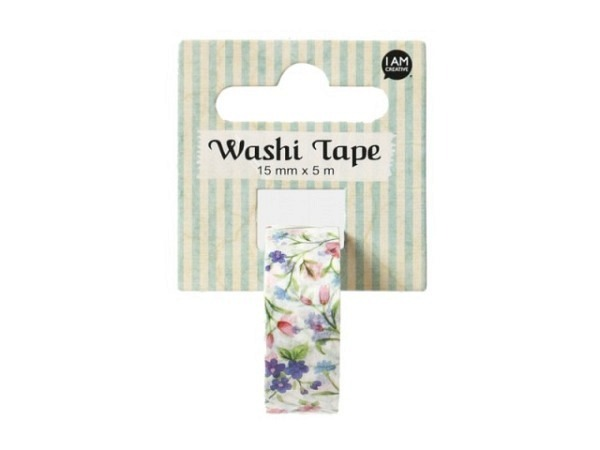 Klebeband Mark's Masté Washi Masking Colorful Blue Stripes