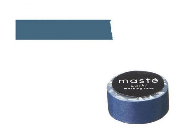 Klebeband Mark's Masté Washi Masking Tape Basic blue/plain