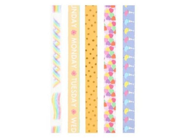 Klebeband Mark's Masté Washi Masking Tape Basic Colourful color Mix8