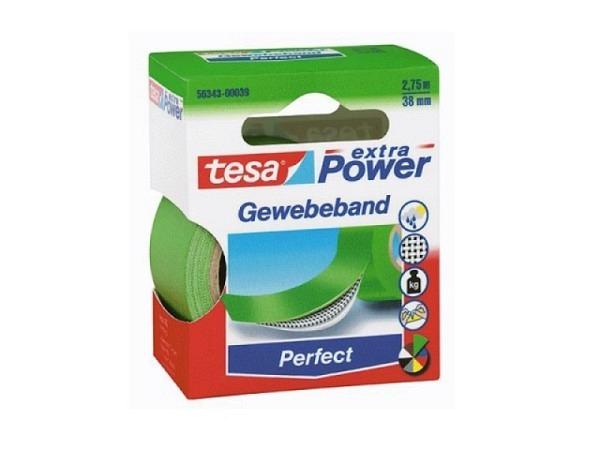 Gewebeband Tesa wetterfest 38mmx2,75m grün