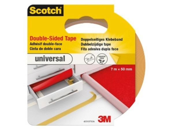 Klebeband Scotch Montage Standard 50mmx7m, doppelseitig,