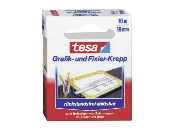Abdeckband Tesa Flexible 30mmx25m, Malerkrepp, stark dehnbar daher auch gut geeignet für Kurvenklebungen, rückstandsfrei ablösbar innert 7 Tagen, lösungsmittelfrei