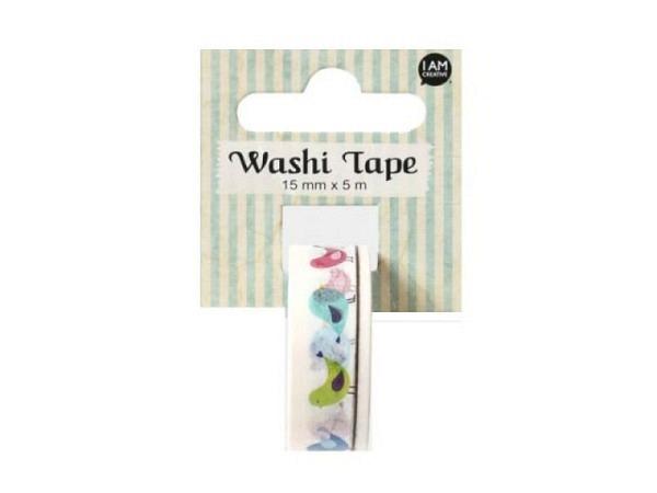 Klebeband Mark's Masté Washi Masking Neon Blue Polka Dots