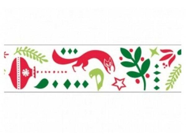 Klebeband PaperPoetry Modern Christmas Tiere, 15mm breit, 10m lang. ..
