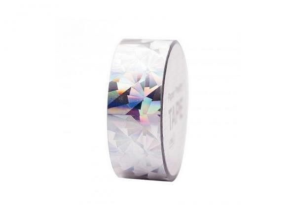 Klebeband PaperPoetry Hot Foil Holographic Kristall silber