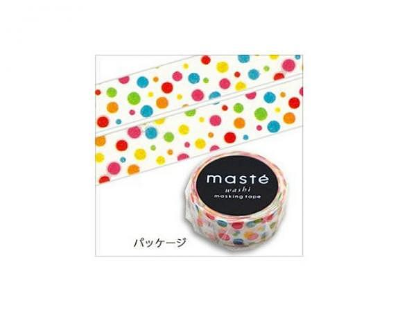 Klebeband Mark's Masté Washi Masking Tape Colorful Dots