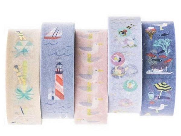 Klebeband PaperPoetry Maritim 5er Set