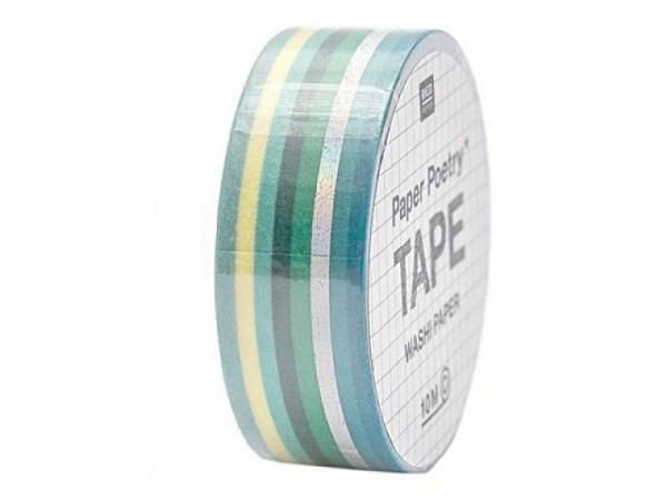 Klebeband PaperPoetry Bullet Diary Tapes Streifen grün/irisierend