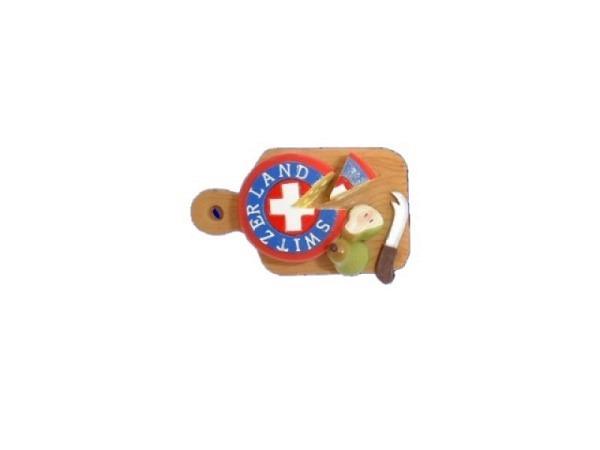 Magnet Schweizer Käseplatte zwei Birnen und einem Käsemesser