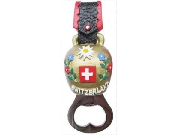 Magnet Kuhglocke mit Oeffner 9,5x4,2cm, mit Flaschenöffner