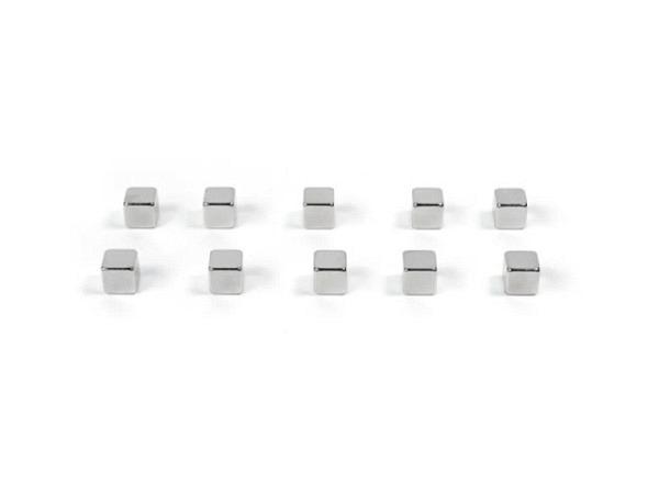 Magnet Trendform Kubiq 10er Set silbern, klein, superstark