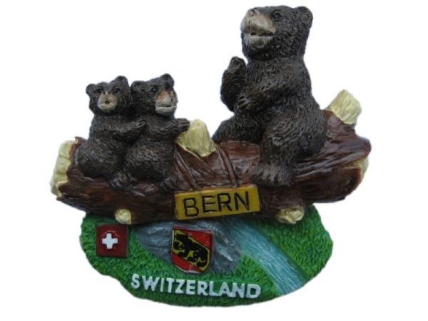 Magnet Bern Bären-Schaukel mit einer Bärenfamilie