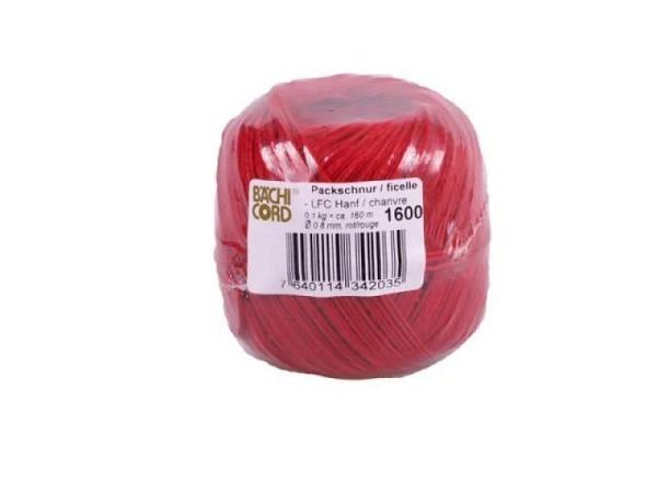 Schnur Hanf LFC rot 0,8mm 160m lebensmittelecht