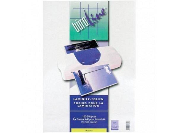 Laminierfolie Büroline A4 100 Mikron, 100Stück