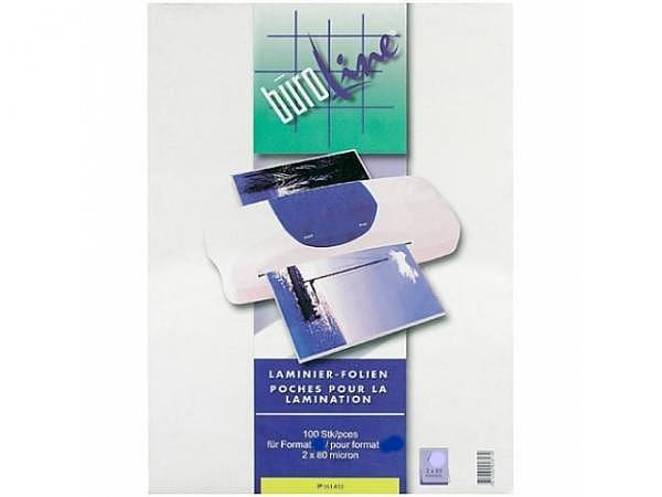 Laminierfolie Büroline glänzend A5 154x216mm 2x125Mikron, 100Stk