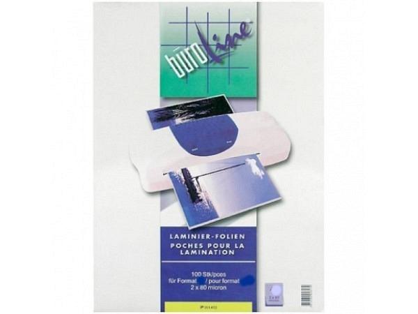Laminierfolie Büroline glänzend A5 154x216mm 2x80Mikron, 100Stk