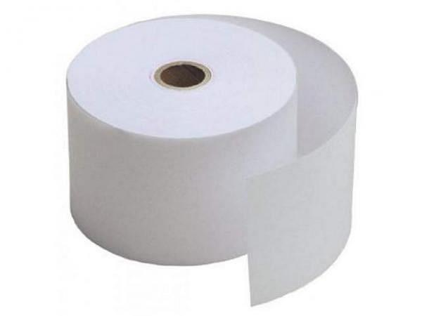 Additionsrolle weiss Papierbreite 57mm, Ø 68,5mm