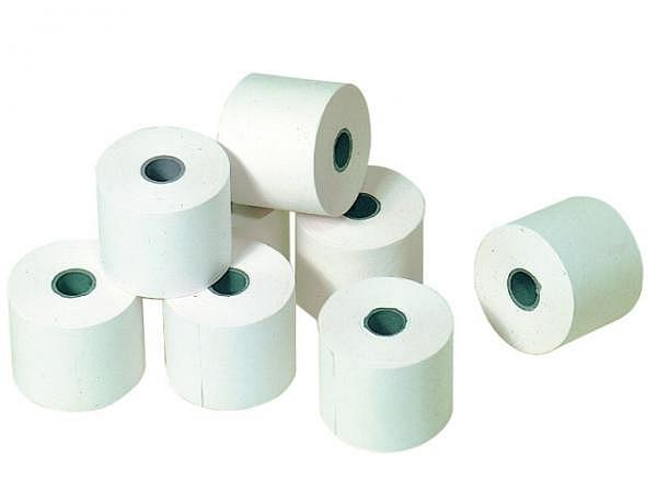 Additionsrolle weiss Papierbreite 69mm, Ø 75mm