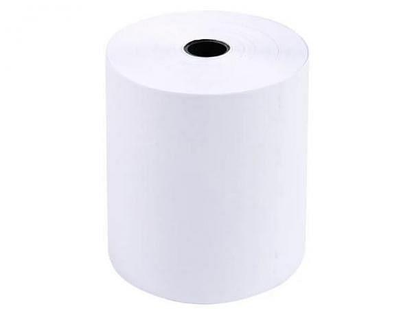 Additionsrolle weiss Papierbreite 74mm, Ø 70mm