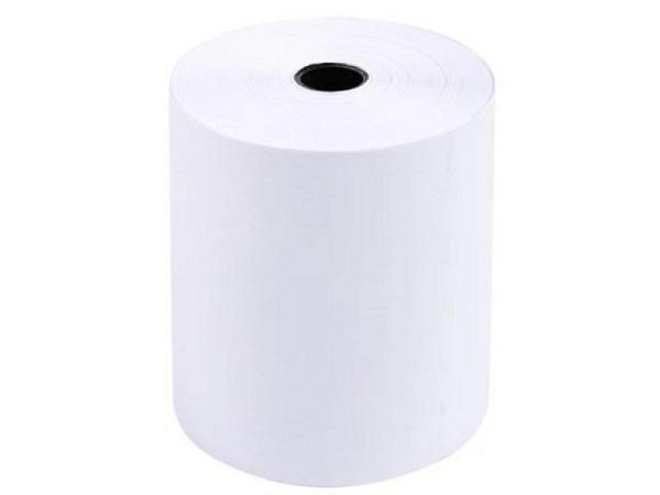 Additionsrolle weiss Papierbreite 74mm, Ø 70mm