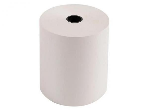Additionsrolle weiss Papierbreite 76mm, Ø 70mm