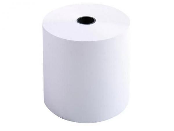 Additionsrolle weiss Papierbreite 70mm, Ø 70mm