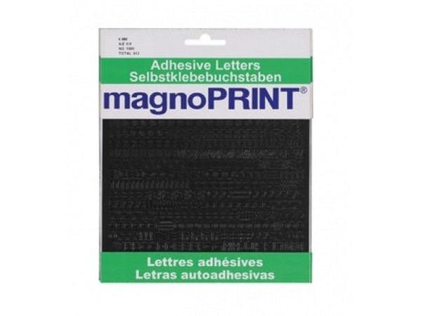 Buchstaben Magnoprint SK 6mm schwarz A-Z/0-9