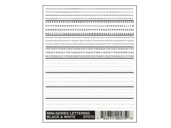 Abreibbuchstaben Woodland Scenics Mini-Series 1-3 mm hoch
