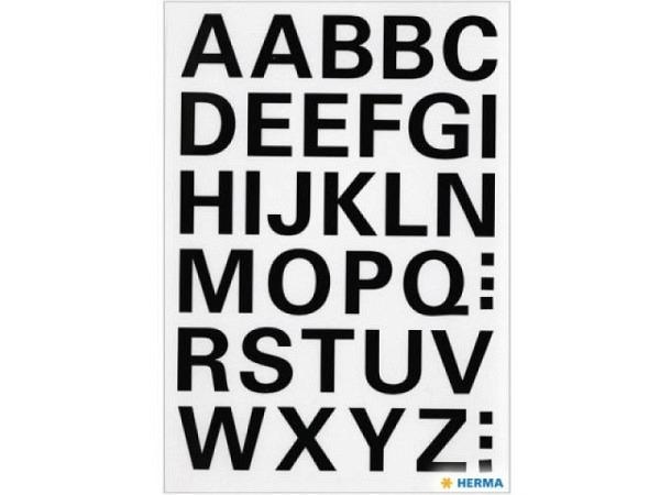Buchstaben Herma 84x120mm A-Z 15mm hoch schwarz