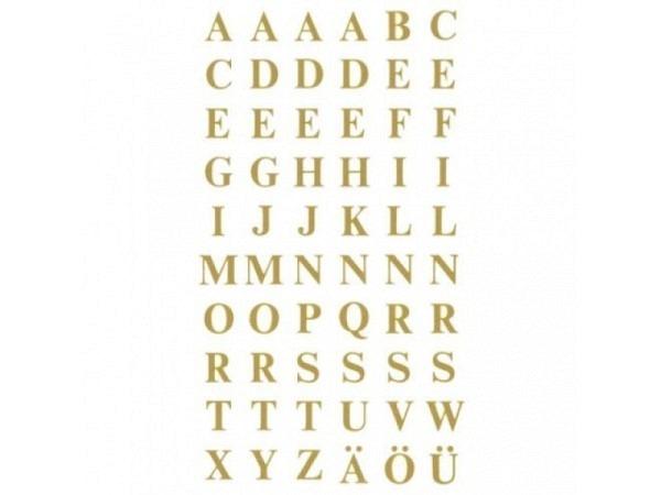 Buchstaben Z-Design gold, A-Z, 7,5cm, Grossbuchstaben
