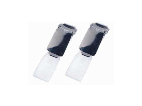 Ausweishalter Durable Hosenträgerclip transparent-schwarz