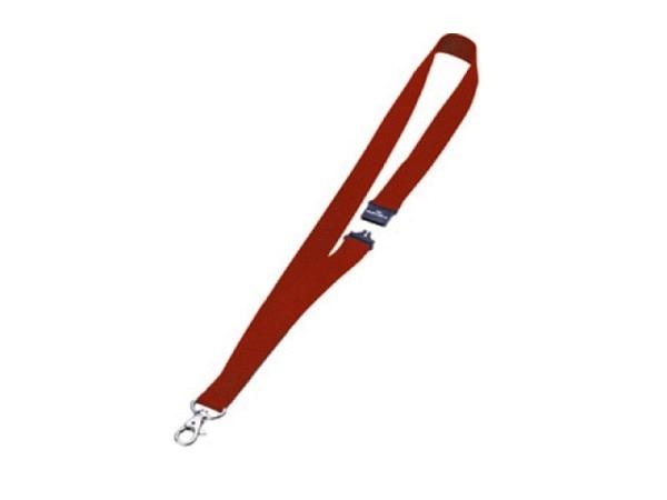 Ausweishalter Durable Textilband rot 8137-03 10Stk
