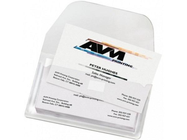Visitenkarten-Taschen 3L 105x60mm SK Verschluss oben 10Stk