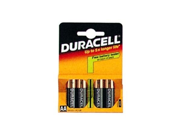 Batterien Duracell Plus AA 1,5V 4Stk., bis zu 40% mehr Energie als simply Duracell, Alkali-Mangan, in Blisterverpackung
