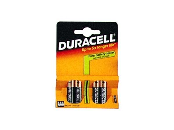 Batterien Duracell Plus AAA 1,5V 4Stk., bis zu 40% mehr Energie als simply Duracell, Alkali-Mangan,