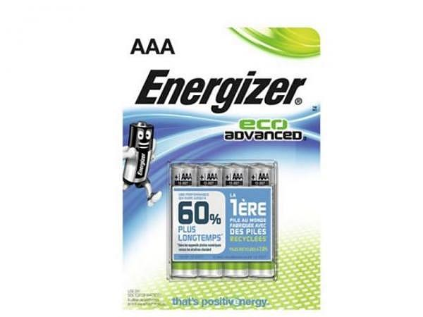 Batterien Energizer Eco Advanced AAA 4St 1,5V Alkalibatterie
