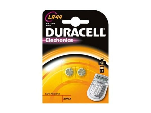 Batterien Duracell Knopf LR44 1,5V 2Stk.