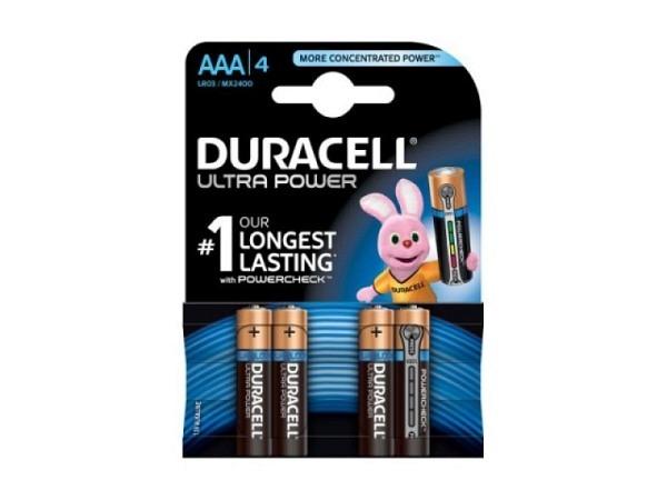 Batterien Duracell Ultra Power AAA LR03 4Stück