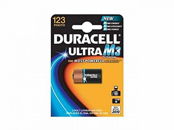 Batterien Duracell Lithium Ultra M3 CR123A 1Stk.