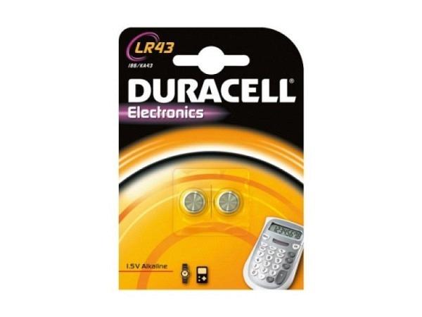 Batterien Duracell Knopf LR43 1,5V 2Stk.