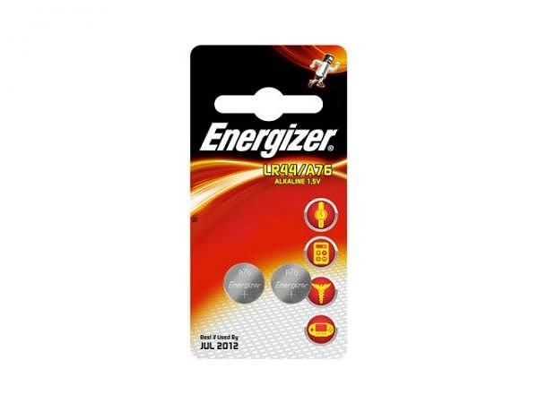 Batterien Energizer Knopf LR44/A76 1,5V 2Stk. im Blister