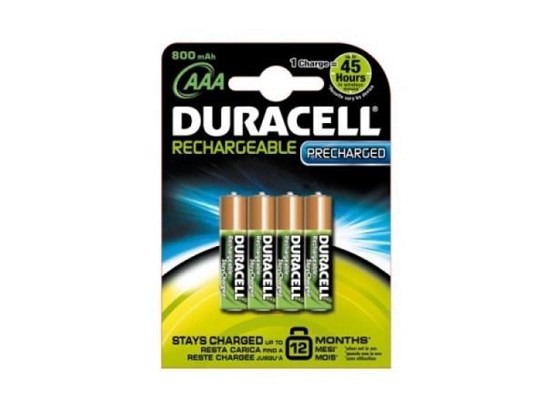 Batterien Duracell StayCharged AAA 800mAh wiederaufladbar