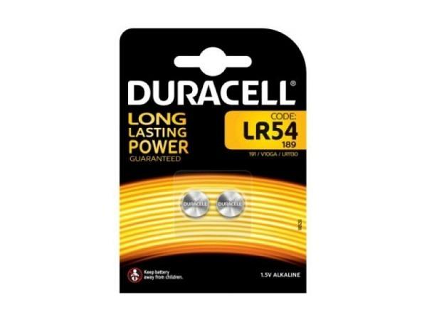 Batterien Duracell Knopf LR54 1,5V 2Stk