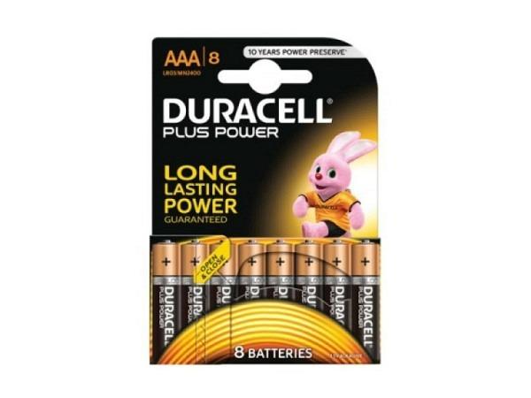 Batterien Duracell Plus Power AAA 1,5V 8Stk.