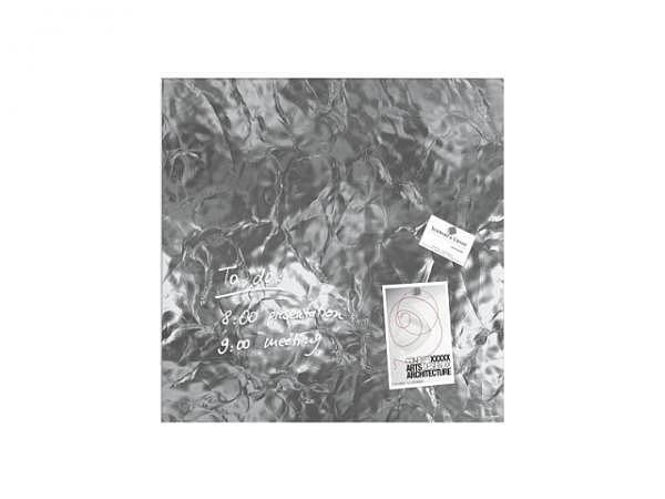 Magnettafel Sigel Artverum silber shiny 48x48cm