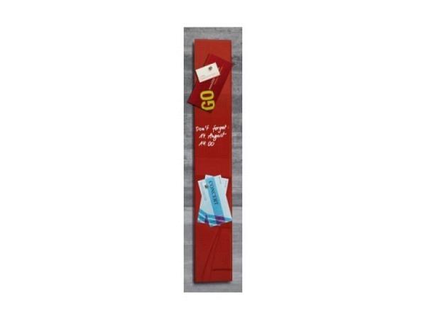 Magnettafel Sigel Artverum rot 12x78cm, 1,5cm
