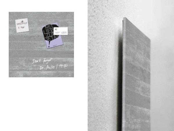 Magnettafel Sigel Artverum Sichtbeton 48x48cm