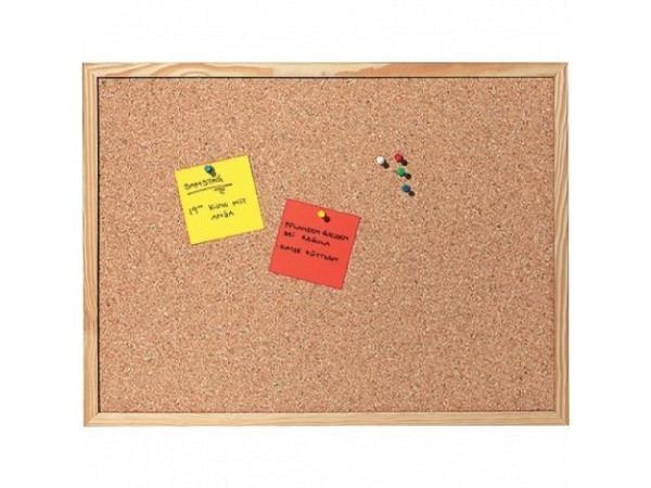 Pinwand mit Holzrahmen, Aufhänger, Pins 50x100cm