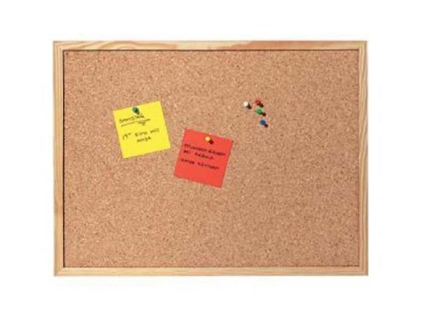 Pinwand Nobo Elipse 150x120cm aus gepresstem Naturkork