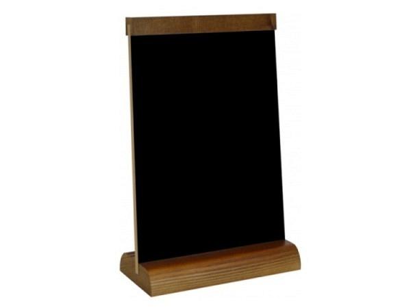 Schiefertafel Tischständer 15x21cm Holzfuss, Holzabschluss